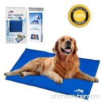 Whalek Cooling Mat Pressure Activated Chilly Dog Cat Bed Gel Mat Blue with Pet Pooper Comb Perfect for Floors Couches Car Seats Pet Beds & Kennels - B07781DXFW