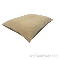"""36""""x29"""" Medium Size MicroCushion High Density Memory Foam Soft PolyFiber Waterproof Pet Pillow Bed with Removable Zippered Luxurious Fleece Beige / Brown Suede Cover for Small to Medium Dogs - B01IUCIFII"""