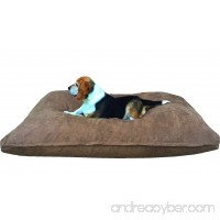 Dogbed4less Medium Memory Foam Dog Bed Pillow with Orthopedic Comfort  Waterproof Liner and Brown Microsuede Pet Bed Cover 37X27 Inches - B072F64DBC