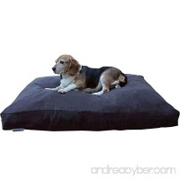 Dogbed4less Medium Memory Foam Dog Bed Pillow with Orthopedic Comfort  Waterproof Liner and Espresso Microsuede Pet Bed Cover 37X27 Inches - B072BDZJXF