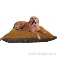 "ehomegoods 54""X47"" XXXL Sudan Brown Jumbo Orthopedic Micro Cushion Memory Foam Pet Bed Pillow for XLarge dog with 2 external covers + Waterproof Internal cover - B00HYO7G4S"