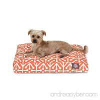 Majestic Pet Orange Aruba Small Rectangle Indoor Outdoor Pet Dog Bed With Removable Washable Cover By Products - B0166E0USU