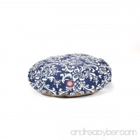 Navy Blue French Quarter Small Round Indoor Outdoor Pet Dog Bed With Removable Washable Cover By Majestic Pet Products - B009EQ8F58