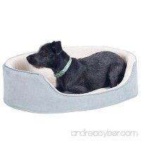 """PETMAKER Small Gray Cuddle Round Suede Pet Bed  23 x 18"""" - B0171P8SZK"""