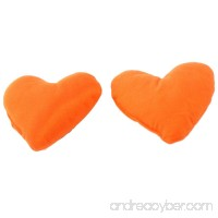 uxcell Heart Shaped Doggie Puppy Cute Neck Pet Pillow Headrest Pad Toy 2 Pcs Orange - B00H8S1XP8