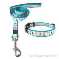 ANNIMOS Pet Dog Collar & Leash Set Adjustable Collars Available Sizes for Small Medium Large Dogs - B076SJR53K