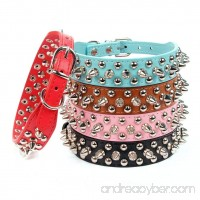 AOLOVE Mushrooms Spiked Rivet Studded Adjustable Pu Leather Pet Collars for Cats Puppy Dogs - B01CB4K7DC