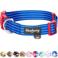 Blueberry Pet 9 Patterns Bon Voyage Collection Designer Dog Collar with Nautical Anchors & 8 Patterns Personalized Collars  Matching Leash & Harness Available Separately - B01DD0TESW