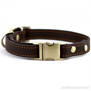 chede Luxury Real Leather Dog Collar- Handmade For Medium Dog Breeds With The Finest Genuine Leather-Best Quality Collar That Is Stylish Soft Strong And Comfortable - B01EP1S3Y4