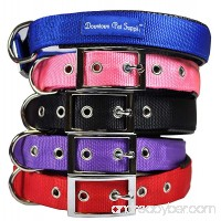 Downtown Pet Supply Deluxe Adjustable Thick Dog Collar (Blue Red Black Purple Pink - Small Medium Large or X-Large) by - B00QBAL4KS
