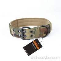 EXCELLENT ELITE SPANKER Nylon Tactical Dog Collar Military Adjustable Training Dog Collar with Double Metal D Ring Buckle - B072FFNXYT