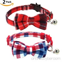 KUDES 2 Pack/Set Cat Collar Breakaway with Bell and Bow Tie for Kitty and Some Puppies  Adjustable from 7.8-10.5 Inch - B07DSFWHR4