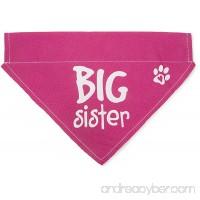 Pavilion Gift Company Big Sister Pink Paw Print Large Dog Slip on the Collar Bandanna - B01KU7BB8M