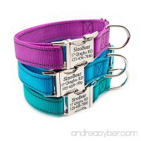Personalized Dog Collar Reflective Custom Dog Collar with Name Phone Number Adjustable Size (S M L) - B07D3QJFCH id=ASIN