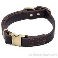 Sindello Genuine Leather Pet Dog Collar Durable and Comfortable Adjustable S M L Black Brown - B072M4MPVS