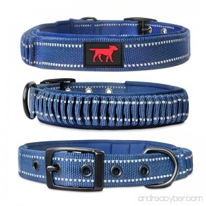 Tuff Pupper Heavy Duty Dog Collar With Handle | Ballistic Nylon Heavy Duty Collar | Padded Reflective Dog Collar With Adjustable Stainless Steel Hardware | Convenient Sizing for All Breeds - B074RXYGTM
