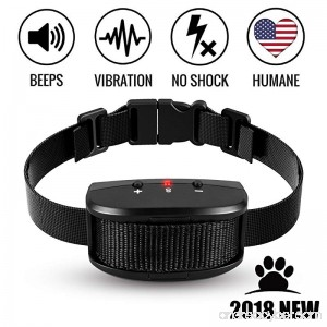 Bark Collar 2018 Adjustable Vibration Shock and Sensitivity Level 1-7 Rechargeable Waterproof Smart Barking Detection for Small and Large Dog No Bark Collar - B07F1N3PQR