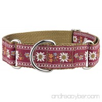 Country Brook Design 1 1/2 Red Queen Of The Alps Woven Ribbon Martingale Collar - B01GICYNMY