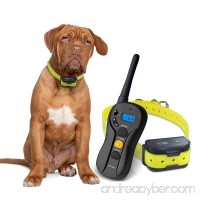 Remote Controlled Dog Training Collar  Rechargeable and Waterproof  660yd Blind Operation with Tone  Vibration  Shock Electronic Collar - Fit for All Size Dogs (10Lbs - 100Lbs) - B071Z9NDK5