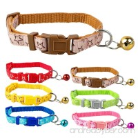 Small Dog Puppy Cat Collar Bell with Star Print Nylon Adjustable(6 PCS) - B071DTN63B