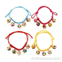 MENGDA Dog Collars New Adjustable Length 18-32CM Dogs Cats Collar with 5 Bells Pet Accessory Rose Red - B01N1JYP0H