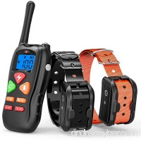 Cambond Dog Training Collar  2 Dog Shock Collar With Remote Waterproof and Rechargeable Dog Collar with 3 Training Modes Harmless Shock Vibration Beep for Medium and Large Dogs  1400 FT Range - B078GRLXFQ