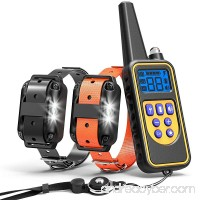 Cambond Shock Collar for Dogs  Waterproof Dog Training Collar with Remote 2600ft Control Range Rechargeable Dog Shock Collar with 4 Training Modes Light Shock Vibration Beep for Medium and Large Dogs - B07F35SC9M