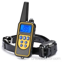 Dog Training Collar  JIAXIN Rechargeable and Rainproof Dog Shock Collar 2624 Ft Range Remote with Beep Vibration and Shock Electronic Collar for Puppy  Small  Medium and Large Dogs - B0761K1YK4