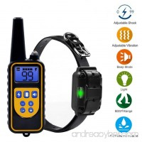 Dog Training Collar Waterproof Rechargeable Shock Collar Partstec 2600ft Remote 0~99 Shock Levels with Beep Vibration Electric Shock Collar for Puppy Small Medium Large Dogs. - B07CGFSJCR