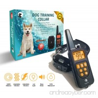 Dog Training E-Collar with Remote [ 2018 Edition ] - 2400 ft Range IPX7 Waterproof & Rechargeable Collar With Beep Vibration Light and Shock - Dog Shock Collar for Puppy Small Medium & Large Dogs - B07BWMNR8R
