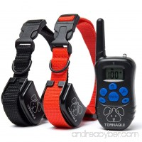 Dogs Shock Collar Training Anti-Bark Collar With Remote Rechargeable Beep Vibration Static Pets - B073TSC3KK