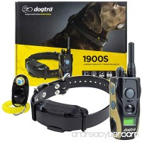 Dogtra 1900S Remote Training Collar - 3/4 Mile Range Waterproof Rechargeable Shock Vibration - includes PetsTEK Dog Training Clicker - B07CR8L5S8