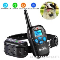 Fettish Dog Training Collar - Rechargeable and Waterproof Dog Shock Collar Electronic Remote Controlled Dog Train with LED Light/Beep/Vibration/Shock Adjustable Collar for Dog - B07DXWMVWY