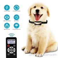 Highwinner Dog Training Collar  2-in-1 Automatic Anti Bark Collar with 800 Yards Remote Dog Shock Collar  Waterproof Rechargeable with Beep Vibration Static Shock for Small Medium Large Dogs - B0796MNT15