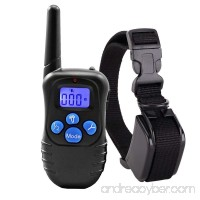 Homeled 330 Yards Remote dog training collar rechargeable and waterproof LCD Screen shock collar Beep / Vibration / Shock puppy training collar adjustable Nylon collar Fits all dogs - B072N4YB5F