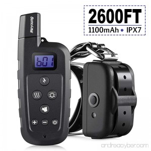 Meyoung Dog Training Collar 2600 FT Remote Electric Dog Collar with Shock Vibration and Beep IPX7 Rechargeable Dog Shock Collars - B075M7CB96