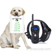 Pethree Dog Training Collar  Rechargeable and Waterproof  660yd Remote Dog Shock Collar with Beep  Vibration  Shock Electronic Collar for All Size Dogs (10Lbs - 100Lbs) - B072LQV3NR