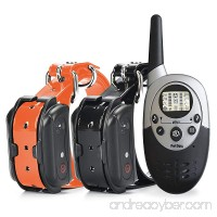 PetSpy 1100 Yard Waterproof Rechargeable Remote Training Dog Collar with Beep Vibration and Electric Shock for 2 Dogs - B017GEX2X4
