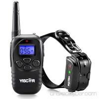 Shock Collar for Dogs YISCOR Upgraded Dog Training Collars Remote Waterproof and Rechargable with Shock Vibration Beep And Light Electric for Small and Large Dogs 1000Ft Range - B073SN3NBY