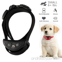 [2018 UPGRADE] No Bark Collar - Best Rechargeable Anti-Barking Shock Control with 5 Levels Automatic Bark Collar for Small Medium Large Dogs Electronic Safe Stop Bark (6+lbs) with Black Collar Strap - B078VLDJKT
