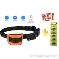 AVA Electric [ULTRA PACK BATTERY X5] Dog Bark Collar Upgrade 2018 - by Battery x5 Work Time - Vibration No Shock - No Bark Collar for Small Medium Large Dogs Best Barking Collar - Pet Safe Waterproof - B07F1ZBYKQ