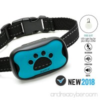 Dog Bark Collar-New Version 2018-Sound & Vibration Humane Training Collar for Small  Medium and Large Dogs- NO SHOK Safe Pet Waterproof Device-Free!!-Led Light Tag! - B07BPB83DP