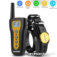 Dog Training Collar  Rechargeable & Waterproof Blind Operation with Anti-stuck Button Remote 1000ft Remote Range Training,Dog Shock Collar with Beep  Vibration and Shock Mode for All Dogs. - B07F3T59H6