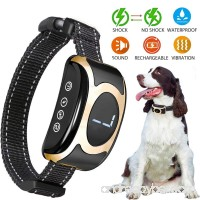 Fettish Bark Collar Dog Rechargeable & Rainproof No Bark Training Collar with Beep/Vibration/Shock Modes Anti-Barking Collar Stop Barking Control Device for Small Medium Large Dogs (black) - B07DXS9Q5Z
