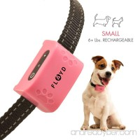 Floyd Small Dog Bark Collar For Tiny To Medium Dogs (6+ lbs). Rechargeable And Waterproof Anti Bark Training Device. Humane Way to Stop Barking - No Shock No Spiky Prongs! - B07947MB6S