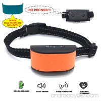 Googoo 2018 New Chip Design NO BARK NO SHOCK NO SHARP PRONGS Humane Rechargeable & Water Resistant Dog Collar - Extremely Durable & Effective - Sound & Vibration - 7 Sensitivity - B074HRVQGD