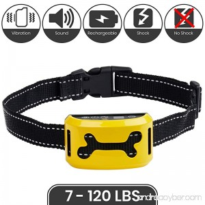 Handy Hound [2018] Bark Collar - No Bark Dog Collar with Sound Vibration Static Shock or No Shock Correction USB Rechargeable for All Breeds and Sizes Trainer Recommended Bark Control - B075WGD4NJ