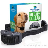 Perfect Quality Solutions ONE DAY SALE Advance No Bark Collar By No Harm Shock Dog Control-7 Sensitivity Adjustable Control Levels For Training Small Medium Or Large Dogs-FREE BONUS:Training EBook - B015AOQ8BK