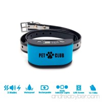 PetClub Dog Bark Collar with Beep Vibration and Static Shock | USB Rechargeable with LED Digital Display for 7 Sensitivity Levels | Waterproof Anti Barking Control Device for Small Medium Large Dogs - B07FN3CTKK