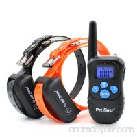 Petrainer PET998DBB2 100% Waterproof and Rechargeable Dog Shock Collar 330 yd Remote Dog Training Collar with Beep/Vibra/Shock Electric E-collar - B00W6ZHZMI